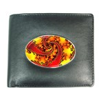 Burning Yellow Flame Fire Fractal Wallet