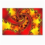 Burning Yellow Flame Fire Fractal Postcard 4 x 6  (Pkg of 10)