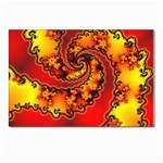 Burning Yellow Flame Fire Fractal Postcard 5  x 7
