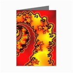 Burning Yellow Flame Fire Fractal Mini Greeting Cards (Pkg of 8)