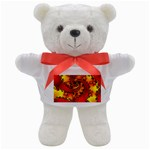 Burning Yellow Flame Fire Fractal Teddy Bear
