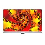 Burning Yellow Flame Fire Fractal Business Card Holder