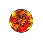 Burning Yellow Flame Fire Fractal Hat Clip Ball Marker