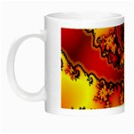 Burning Yellow Flame Fire Fractal Night Luminous Mug