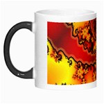 Burning Yellow Flame Fire Fractal Morph Mug