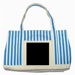 Fish Pattern Striped Blue Tote Bag