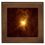 Rebirth in Brown Goth Punk Fantasy Framed Tile