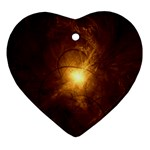 Rebirth in Brown Goth Punk Fantasy Ornament (Heart)