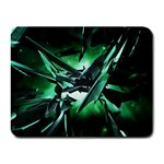 Broken Green Goth Metallic Glass Small Mousepad
