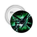 Broken Green Goth Metallic Glass 2.25  Button