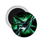 Broken Green Goth Metallic Glass 2.25  Magnet