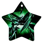 Broken Green Goth Metallic Glass Ornament (Star)