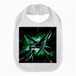 Broken Green Goth Metallic Glass Bib