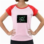 Broken Green Goth Metallic Glass Women s Cap Sleeve T-Shirt