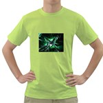 Broken Green Goth Metallic Glass Green T-Shirt