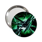 Broken Green Goth Metallic Glass 2.25  Handbag Mirror