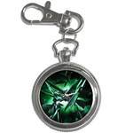 Broken Green Goth Metallic Glass Key Chain Watch