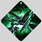 Broken Green Goth Metallic Glass Car Window Sign