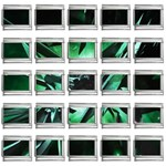 Broken Green Goth Metallic Glass 9mm Italian Charm (25 pack)