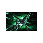 Broken Green Goth Metallic Glass Sticker (Rectangular)