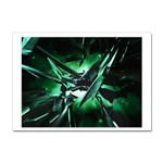Broken Green Goth Metallic Glass Sticker (A4)