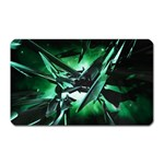 Broken Green Goth Metallic Glass Magnet (Rectangular)