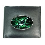 Broken Green Goth Metallic Glass Wallet