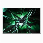 Broken Green Goth Metallic Glass Postcard 5  x 7