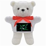 Broken Green Goth Metallic Glass Teddy Bear