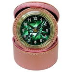 Broken Green Goth Metallic Glass Jewelry Case Clock