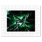 Broken Green Goth Metallic Glass Jigsaw Puzzle (Rectangular)