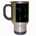 Broken Green Goth Metallic Glass Travel Mug (Silver Gray)