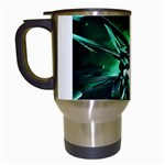 Broken Green Goth Metallic Glass Travel Mug (White)