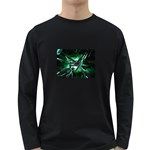 Broken Green Goth Metallic Glass Long Sleeve Dark T-Shirt