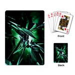 Broken Green Goth Metallic Glass Playing Cards Single Design