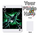 Broken Green Goth Metallic Glass Playing Cards 54 Designs