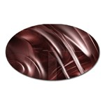 Metallic Goth Antipathy Abstract Art Magnet (Oval)