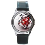 Metal Becomes Her Goth Ball Fantasy Round Metal Watch
