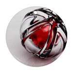 Metal Becomes Her Goth Ball Fantasy Ornament (Round)