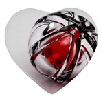 Metal Becomes Her Goth Ball Fantasy Ornament (Heart)