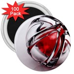 Metal Becomes Her Goth Ball Fantasy 3  Magnet (100 pack)