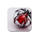 Metal Becomes Her Goth Ball Fantasy Rubber Square Coaster (4 pack)