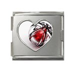 Metal Becomes Her Goth Ball Fantasy Mega Link Heart Italian Charm (18mm)