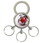 Metal Becomes Her Goth Ball Fantasy 3-Ring Key Chain