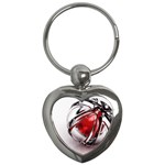 Metal Becomes Her Goth Ball Fantasy Key Chain (Heart)