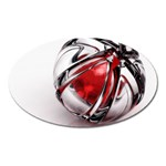 Metal Becomes Her Goth Ball Fantasy Magnet (Oval)