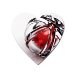 Metal Becomes Her Goth Ball Fantasy Magnet (Heart)