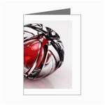Metal Becomes Her Goth Ball Fantasy Mini Greeting Card