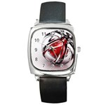 Metal Becomes Her Goth Ball Fantasy Square Metal Watch