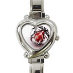 Metal Becomes Her Goth Ball Fantasy Heart Italian Charm Watch